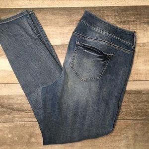 {Maurice's} skinny leg distressed jeans